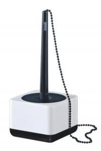 Pix cu lantisor si suport pentru birou HAN iLine - alb lucios/negru lucios