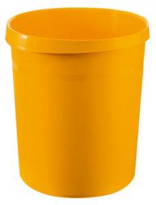 Cos de birou pentru hartii, 18 litri, HAN Grip - galben