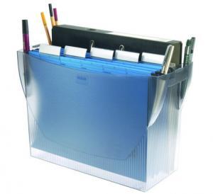 Suport plastic pentru 20 dosare suspendabile, HAN Swing Comfort - transparent gri