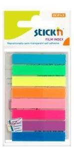 Stick index plastic transparent color 45 x 8 mm, 8 x 20 file/set, Stick