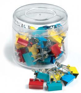 Clips hartie 15mm, 50buc/cutie, ARTIGLIO - culori asortate