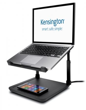 Kensington SmartFit® Suport pt. laptop cu inaltime reglabila, suport incarcare wireless pt. telefon