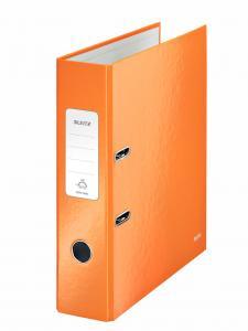 Biblioraft LEITZ 180 Wow, A4, 85mm, carton laminat - portocaliu metalizat