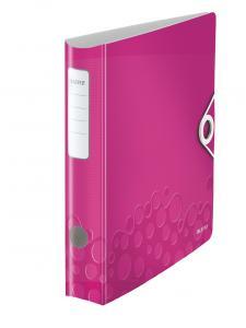 Biblioraft LEITZ Active Wow 180, A4, 50 mm, polyfoam - roz metalizat