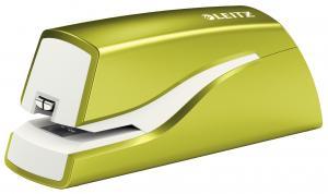 Capsator electric LEITZ Wow cu baterii NeXXt Series, 10 coli - verde metalizat