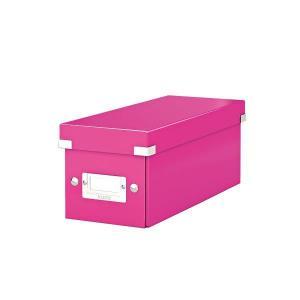 Cutie pentru 30/60 CD-uri, LEITZ Click & Store, carton laminat - roz