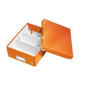 Cutie LEITZ Organizer Click & Store mica - portocaliu