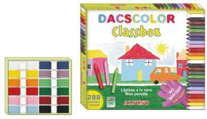Creioane cerate semi-soft, cutie carton, 24 x 12 culori/cutie, ALPINO DacsColor Economy pack1