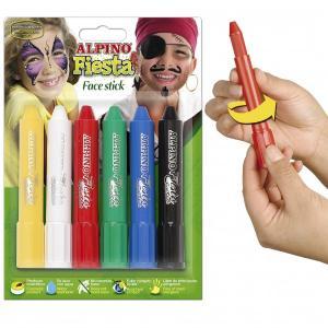 Creioane machiaj 15gr., 6 culori/cutie, ALPINO Fiesta