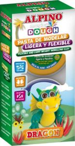 Kit 4 culori plastilina magica, ALPINO Dragon
