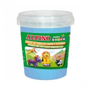 Plastilina magica, 160 grame/cutie, ALPINO - bleu0