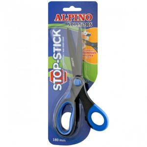 Foarfeca copiii, 18cm, cu rubber grip, in blister, ALPINO Stop Stick