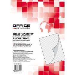 Rezerva hârtie pentru flipchart, 70g/mp, 58.5x81cm, 20coli/top, Office products - caroiata