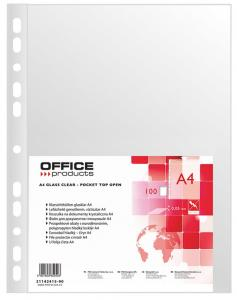 Folie protectie pentru documente A4, 50 microni, 100folii/set, Office Products - cristal