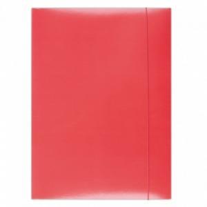 Mapa din carton plastifiat cu elastic, 350 g/mp, Office Products - rosu