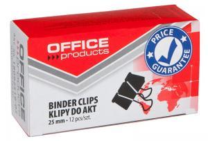 Clips hartie 25mm, 12buc/cutie, Office Products - negru