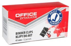 Clips hartie 41mm, 12buc/cutie, Office Products - negru
