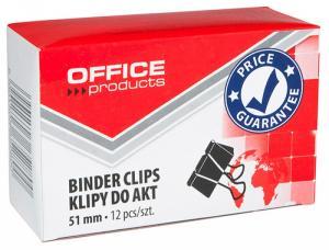 Clips hartie 51mm, 12buc/cutie, Office Products - negru