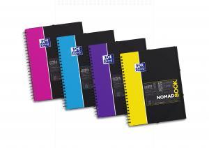 Caiet cu spirala A4+, OXFORD Student Nomadbook, 80 file-90g/mp, 4 perf., coperta PP - dictando