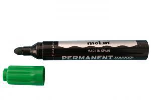Permanent marker, varf rotund, corp plastic, MOLIN - verde