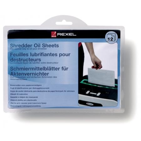Coli impregnate cu ulei pentru distrugator documente REXEL - 12 buc/set