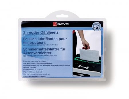 Coli impregnate cu ulei pentru distrugator documente REXEL - 20 buc/set