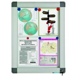 Avizier interior/exterior Recto, tabla alba magnetica, 15 x A4, 90 x 106 cm, SMIT