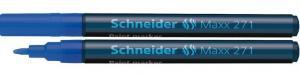 Marker cu vopsea SCHNEIDER Maxx 271, varf rotund 1-2mm - albastru