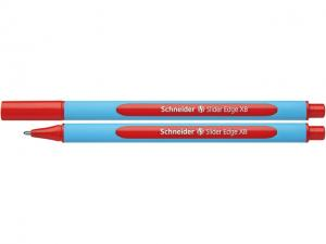 Pix SCHNEIDER Slider Edge XB, rubber grip, varf 1.4mm - scriere rosie