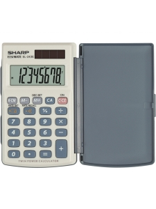 Calculator de buzunar, 8 digits, 105 x 64 x 11 mm, dual power, conversie, SHARP EL-243EB - gri