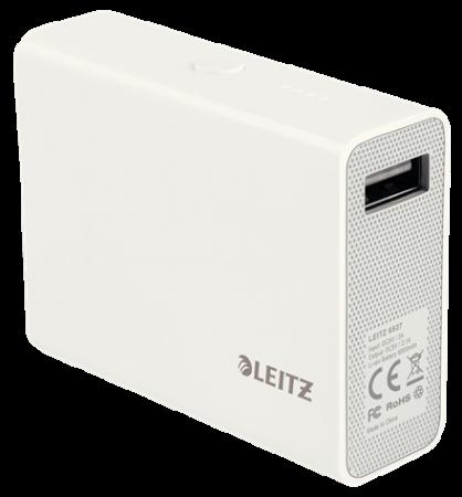 Baterie externa LEITZ Complete USB Power Bank 6000 - alba