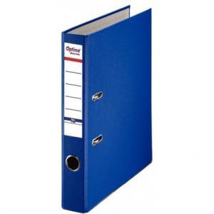 Biblioraft A4, plastifiat PP/paper, margine metalica, 50 mm, Optima Basic - bleumarin