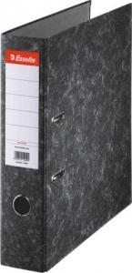 Biblioraft A4, margine metalica, 50mm, ESSELTE Togo - marmorat cu cotor negru