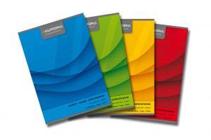 Caiet A4, 60 file - 70g/mp, liniat stanga, coperta carton color, AURORA Office - dictando