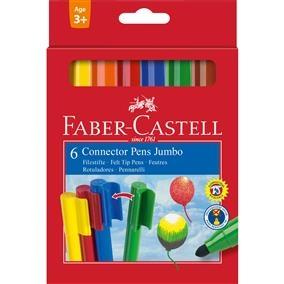 Carioca Connector Jumbo Faber-Castell - 6 culori