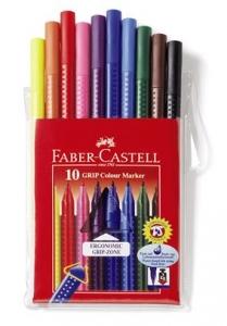 Carioca Grip Faber-Castell - 10 culori/etui plastic