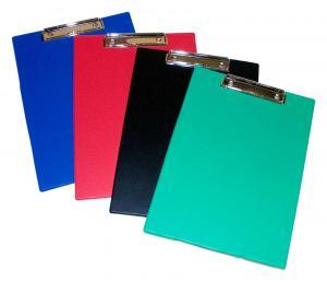 Clipboard simplu, plastifiat PVC, AURORA - albastru