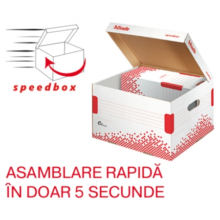 Container de arhivare ESSELTE Speedbox cu capac M