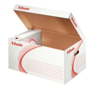 Container arhivare ESSELTE Standard, deschidere superioara - alb