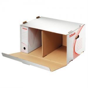 Container arhivare ESSELTE Standard, deschidere laterala - alb