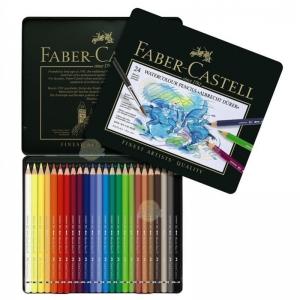 Creioane Colorate Acuarela A.Durer Faber-Castell, 24 culori, cutie metalica