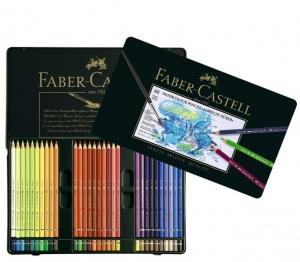 Creioane Colorate Acuarela A.Durer Faber-Castell, 60 culori, cutie metal