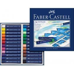 Creioane Ulei Pastel Faber-Castell, 24 culori
