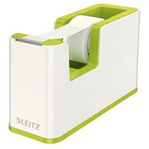 Dispenser cu banda adeziva inclusa LEITZ Wow, culori duale - verde metalizat/alb