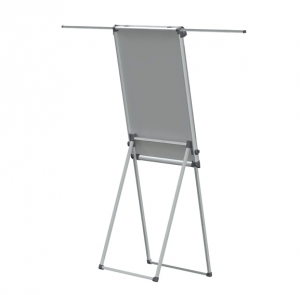 Flipchart magnetic, 100x68cm, reglabil pe inaltime, cu brate laterale retractabile, SMIT Shift