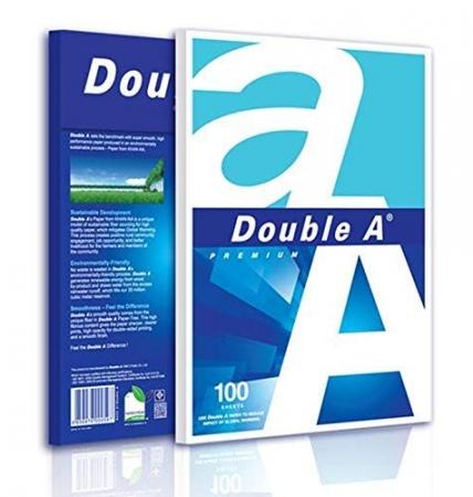 Hartie alba pentru copiator, A4, 80g/mp, 100coli/top, clasa A, Double A