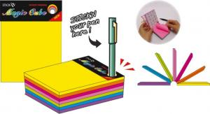 "Magic cube color 101 x 76 mm, 280 file, Stick""n - 7 culori neon"