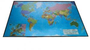 Mapa birou 41 x 62,5 cm, buretata, LANDS - harta lumii/Europa