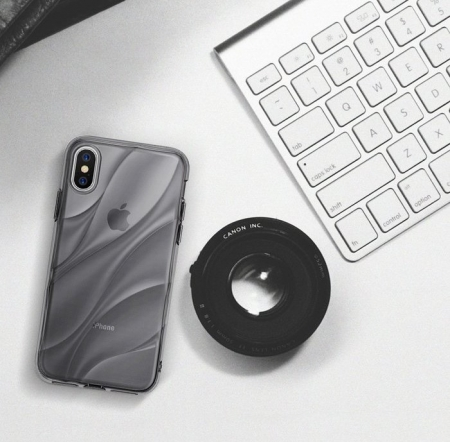 Husă Ringke Flow Smoke Black pentru iPhone X0