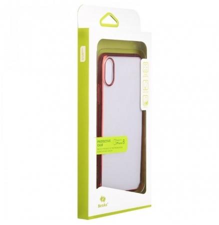 Husa Benks iPhone X Electroplated Rosu pentru iPhone X5